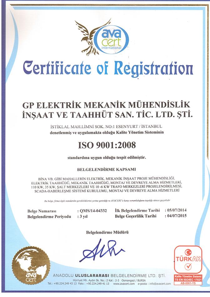 certificate of